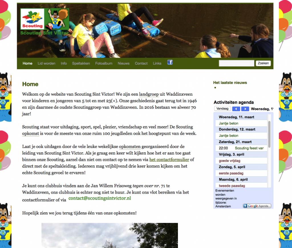 screenshot nieuwe site